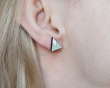 Load image into Gallery viewer, Mint White Mountain Stud Earrings