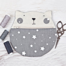 Load image into Gallery viewer, Cat Makeup Bag Stars