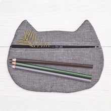 Load image into Gallery viewer, Cat Cosmetic Bag Gray