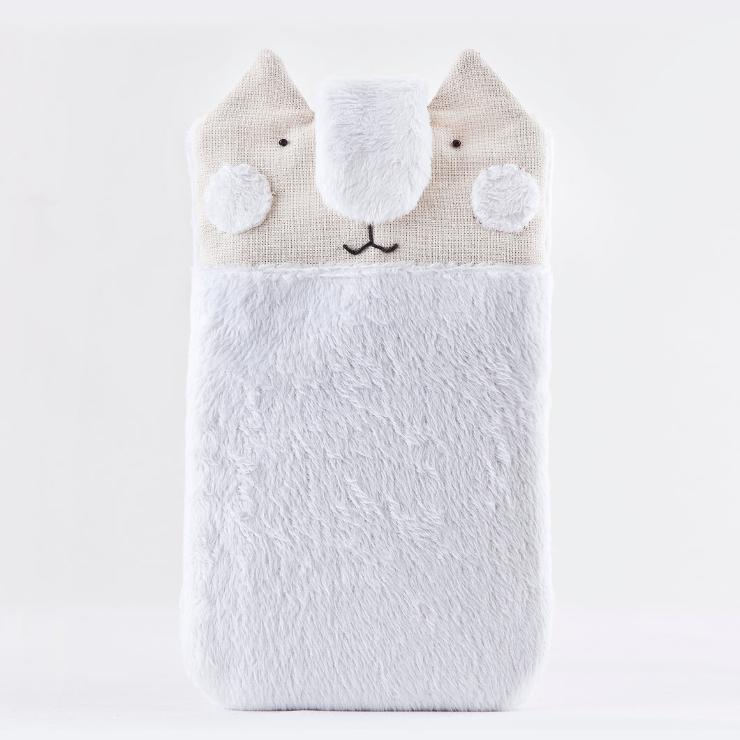 Fluffy Cat Case for iPhone 11 Pro Max, Custom iPhone 8 Cover, White iPhone XS Max Sleeve