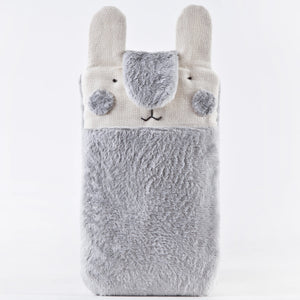 Gray Fluffy Bunny Case for iPhone 11 Pro Max