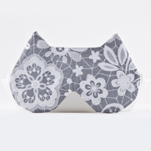 Load image into Gallery viewer, Gray Floral Cat Sleep Mask