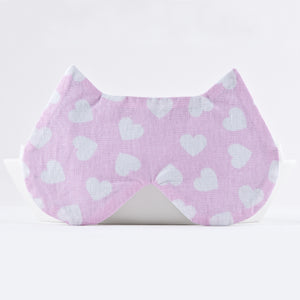 Pink Hearts Cat Sleep Mask
