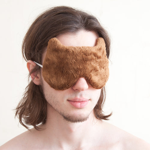 Fluffy Bear Sleep Mask for Him