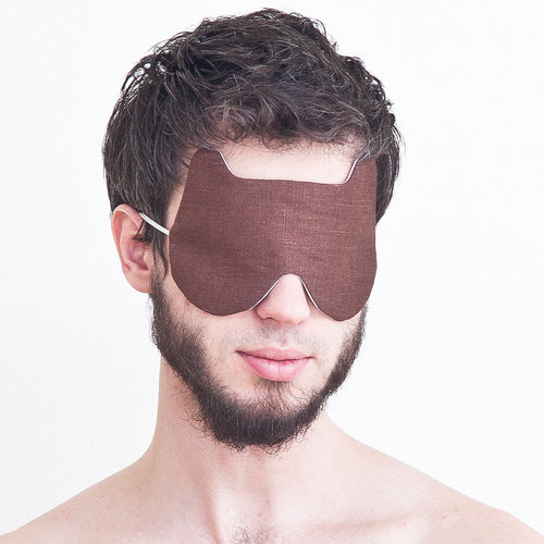 Bear Sleep Mask Linen