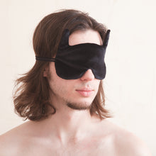 Load image into Gallery viewer, Black Bat Sleep Mask