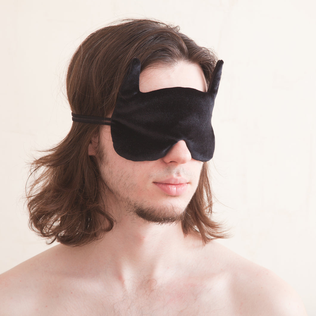 Black Bat Sleep Mask