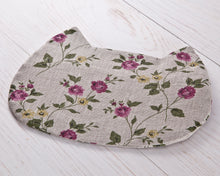 Load image into Gallery viewer, Cat Cosmetic Bag Linen Floral