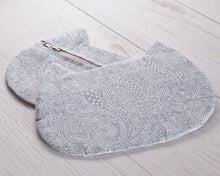 Load image into Gallery viewer, Cosmetic Bag Gray Paisley