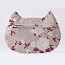 Load image into Gallery viewer, Cat Cosmetic Bag Floral