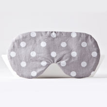 Load image into Gallery viewer, Gray Dotted Sleep Mask