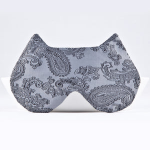Gray Paisley Cat Sleep Mask