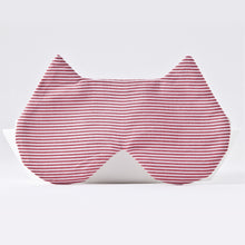 Load image into Gallery viewer, Red White Cat Sleep Mask