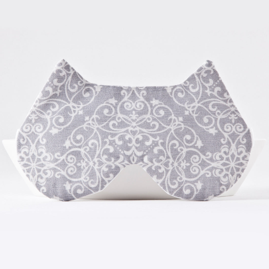 Gray Lace Cat Sleep Mask