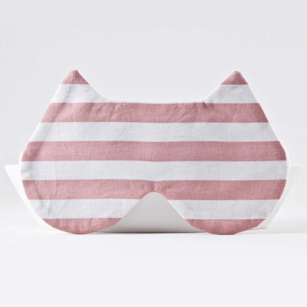 Pink White Cat Sleep Mask