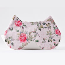 Load image into Gallery viewer, Pink Roses Cat Sleep Mask