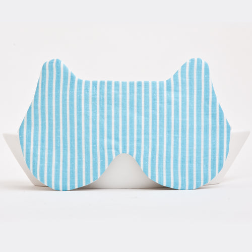 Bear Sleep Mask Striped Blue
