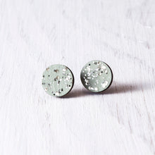 Load image into Gallery viewer, Circle Sparkle Stud Earrings Mint