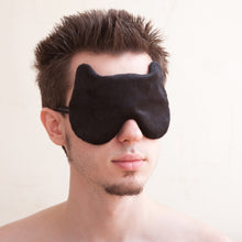 Load image into Gallery viewer, Black Bear Sleep Mask, Gift for Him