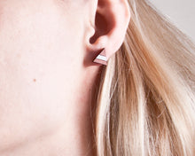 Load image into Gallery viewer, Dusty Pink White Mountain Stud Earrings