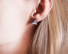 Load image into Gallery viewer, Mountain Blue White Stud Earrings