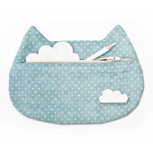 Load image into Gallery viewer, Cat Cosmetic Bag Polka Dots