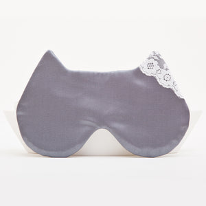 Satin Cat Sleep Mask Gray