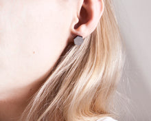 Load image into Gallery viewer, Hexagon Stud Earrings Gray