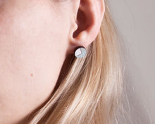 Load image into Gallery viewer, Circle Stud Earrings Blue White