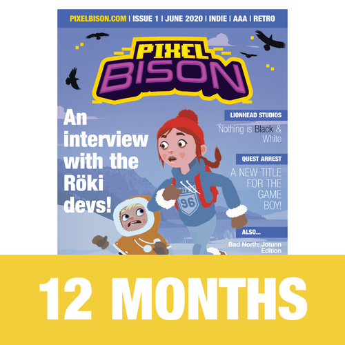12 month subscription to pixel bison game magazine