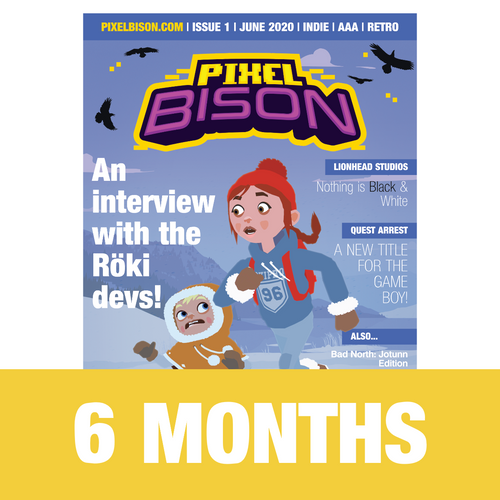 6 month subscription to pixel bison game magazine