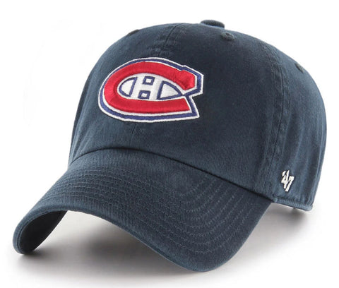 Montreal Canadiens NHL '47 Brand CLEAN UP Hat - Navy