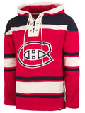 Men's Montreal Canadiens '47 Red Lacer Pullover Hoodie