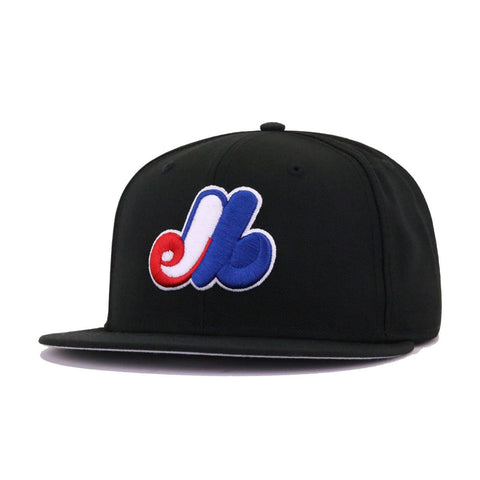 Montreal Expos New Era 59Fifty Cooperstown Fitted Cap - Black