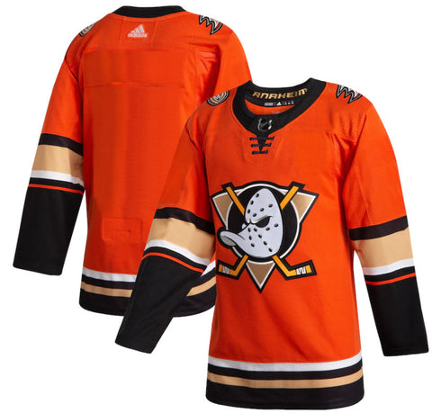 Customized Anaheim Ducks adidas Orange 2019/20 Alternate Authentic Jersey