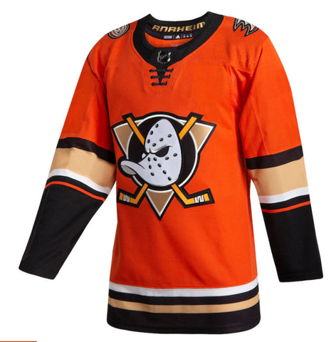 Men's Anaheim Ducks adidas Orange 2019/20 Alternate Authentic Jersey