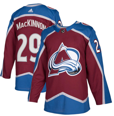 Men's Colorado Avalanche Nathan MacKinnon adidas Authentic Player Jersey