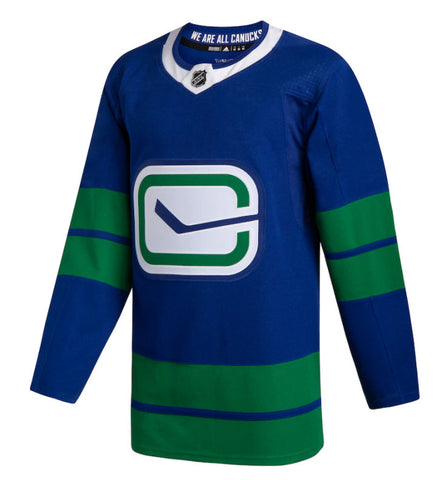 Men's Vancouver Canucks adidas Royal 2019/20 Alternate - Authentic Blank Jersey
