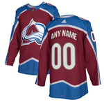 Customized Colorado Avalanche adidas Burgundy Authentic Pro - Blank Jersey