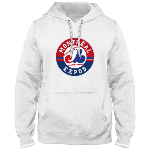 Montreal Expos Cooperstown Twill Logo Hoody (White) - Bulletin
