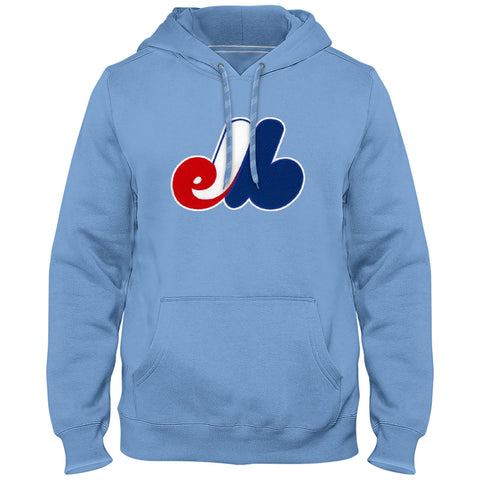 Montreal Expos Cooperstown Twill Logo Hoody (Light Blue) - Bulletin