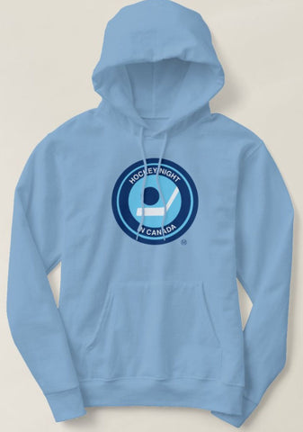 Retro Hockey Night in Canada Hoodie Powder Blue - Bulletin