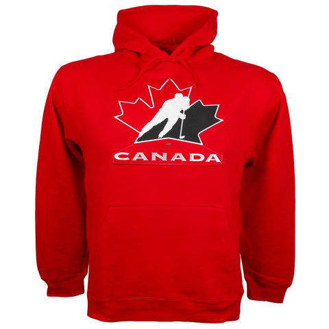 Team Canada IIHF Twill Logo Hoody (Red) - Bulletin