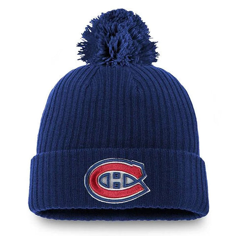 Men's Montreal Canadiens Core Pom Beanie, Navy by Fanatics