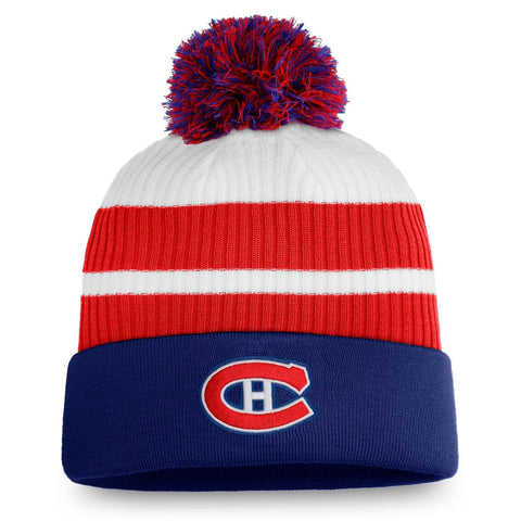Montreal Canadiens Fanatics Reversed Retro - Pom Cuffed Knit Hat