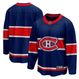 Customized Mens' Montreal Canadiens Fanatics Reverse Retro Breakaway - Blue