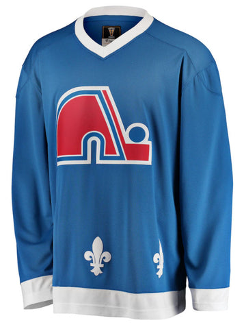 Customized  Quebec Nordiques Fanatics Branded Blue Premier Breakaway Heritage - Blank Jersey