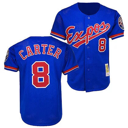 Men's Montreal Expos Gary Carter Mitchel & Ness Cooperstown Collection Mesh Batting Practice Jersey