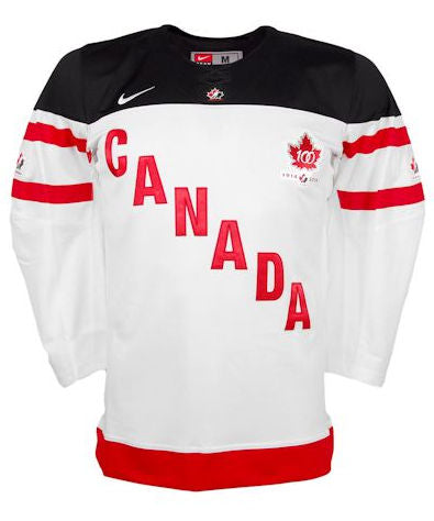 Customized Team Canada IIHF Official 100th Anniversary Replica White Hockey Jersey - Nike