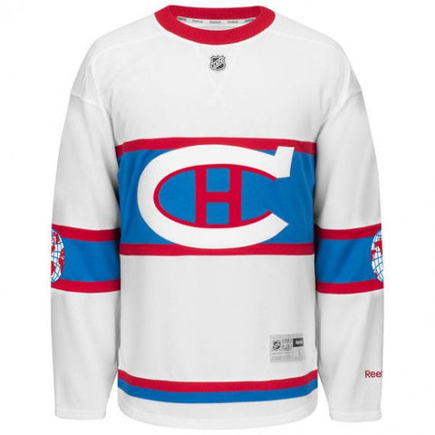 Customized Montreal Canadiens Reebok 2016 Winter Classic Premier White Jersey